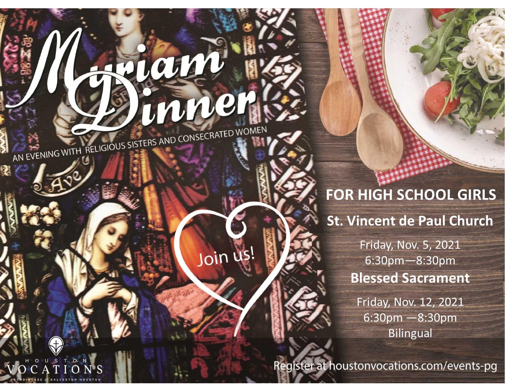 myriam dinner 2021